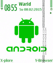 Green Android tema screenshot