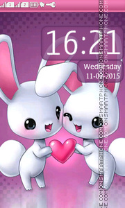 Bunny Love tema screenshot