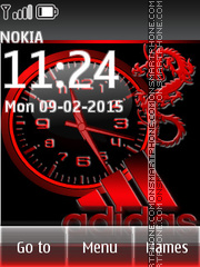 Adidas Clock 03 theme screenshot