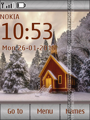 Snowy House tema screenshot