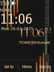 Samsung Clock theme screenshot
