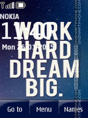 Work Hard Dream Big theme screenshot