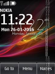 Sony Xperia Z Clock theme screenshot