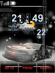 Chevrolet Camaro with Weather and Clock theme screenshot