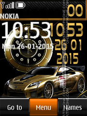 Nissan Dual Clock tema screenshot