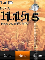 New York City Live Clock theme screenshot