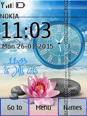 Lotus and Clock theme screenshot