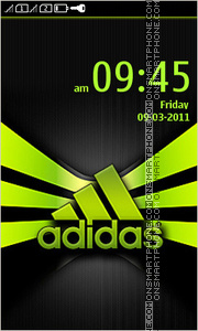 Скриншот темы Adidas Logo 04