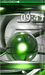 Скриншот темы Green Abstract 07