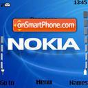 Aqua Blue Nokia es el tema de pantalla