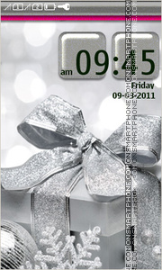 Silver Gift tema screenshot