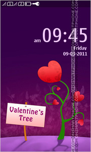 Valentines Tree tema screenshot