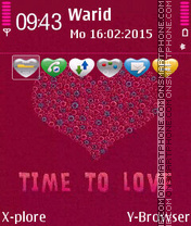 Time To Love tema screenshot