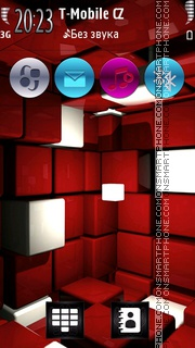 Magic 3D Boxes tema screenshot