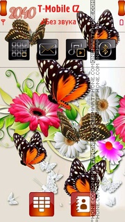 Butterflies 06 tema screenshot