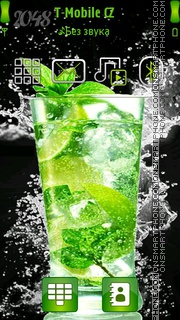 Mojito Cocktail tema screenshot