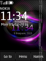 Abstract Digital Glass Clock theme screenshot