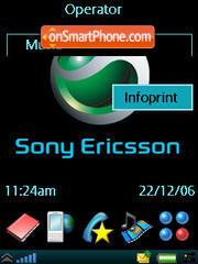 Stylish Black Sony theme screenshot