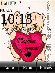 Me to You Tatty Teddy Together Forever theme screenshot