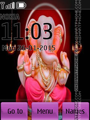 Lord Ganesha 01 tema screenshot