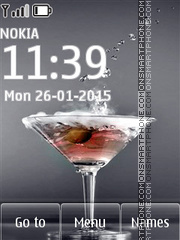 Martini with Olives theme screenshot