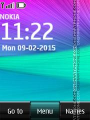 Скриншот темы Samsung Galaxy Abstract