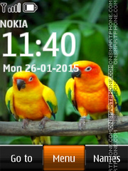 Orange-bellied Parrots theme screenshot