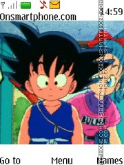 Dragon Ball tema screenshot