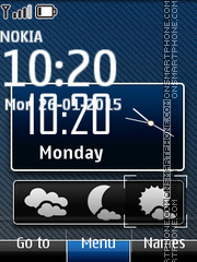 Weather Indicator with Clock theme screenshot