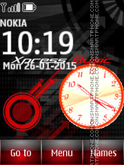 Xpress Music Clock theme screenshot