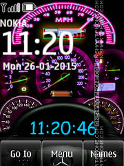 Speedmeter Clock 01 theme screenshot