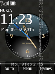 Big Analog Clock tema screenshot