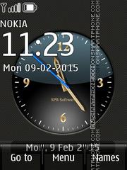 Скриншот темы Big Analog Clock