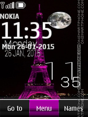 Eiffel Tower Clock 02 tema screenshot