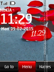 Leaf Digital Clock theme screenshot