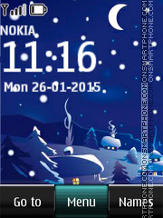 Night Winter Landscape tema screenshot