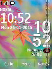 Nokia Autumn tema screenshot