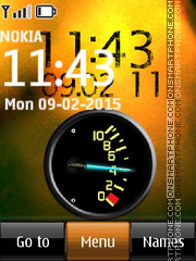 Battery and Clock theme screenshot