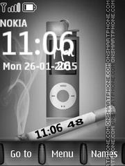 Ipod Clock and Cigarettes tema screenshot
