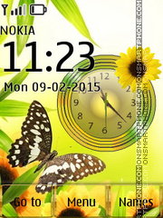 Butterflies with Butterflies Icons theme screenshot