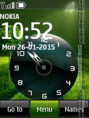 Green Nature Clock 02 theme screenshot