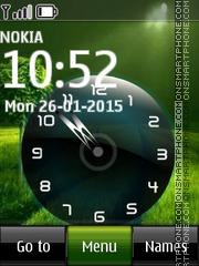 Скриншот темы Green Nature Clock 02
