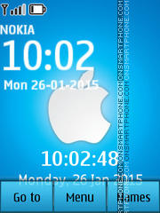 Apple Digital Clock 02 tema screenshot