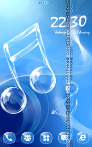 Love Music tema screenshot