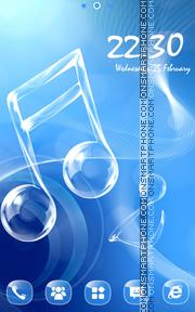 Скриншот темы Love Music