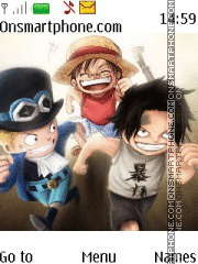 Ace Luffy Sabo One Piece tema screenshot