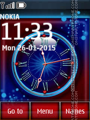 Analog Clock 06 theme screenshot