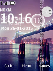 Bridge Clock 02 tema screenshot