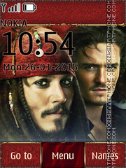 Pirates of the Caribbean 10 tema screenshot
