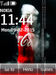Coca Cola from Fridge es el tema de pantalla